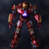 Wholesale 2015 Hot NEW The Avengers Can be illuminated Iron man metal Mark Hulkbuster PVC Action Figure toys dolls cm A