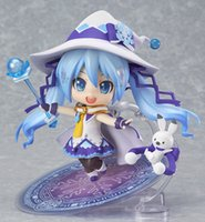 "Cheap 4"" 10cm Cute anime sex doll Nendoroid VOCALOID Hatsune Miku Magical Snow Miku Ver GSC action Collectible Model toy for children"