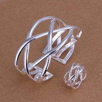 Wholesale Factory price top quality sterling silver cute jewelry sets necklace bracelet bangle earring ring SMTS311