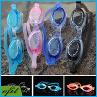 Wholesale Silicone Swimming Goggles Waterproof Anti fog Anti UV Glasses Adjustable Adult Children Unisex Goggles Gift Earplugs With Retail Box