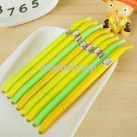 Wholesale Children s giftsKorea Stationery banana shape is easy to rub gel pen erasable pen creative pen B374 disappear when exposed to heat