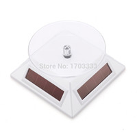 Wholesale Solar Rotation Showcase Mini Panels Solar Powered Turntable Rotary Jewelry Watch Cell Phone Rotating Display Stands