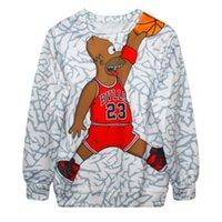 Cheap EAST KNITTING F383 2015 New 3D Print Sweatshirt Women Jordan Printed Harajuku Hoodies Basketball Sweats Suit Funny Tops Pullover