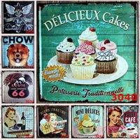 beauty shop restaurant - hot new vintage cm cupcakes beauty classic Tin Sign Coffee Shop Bar Restaurant Wall Art decoration Bar Metal Paintings