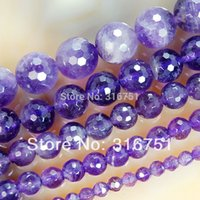 amethyst round beads - Hot Sale mm Natural Faceted Amethyst Round Beads inch strand Pick Size f00106 Aa