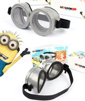 glass toys - Despicable Me Minions D Vintage Cyber Steampunk Goggles Glasses For Children Girls Boys Halloween Chrismas Gifts Rave Cosplay Goggles