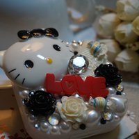 Wholesale DIY pearl stick contact lens box Hello manual Kitty Hello Kitty partner box candy flowers
