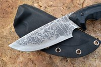 ats tactical gear - Kiku Matsuda hunting knife Y start knife ATS fixed blade outdoor gear G10 handle satin finished tactical knife Kydex sheath