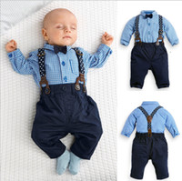 baby boy suit jacket - Christmas Baby Kids Clothes for Boys Clothing Suits Cartoon Toddler Clothing New Kids Clothes Grid Childrens Outfits Sets A67