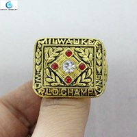 baseball championship rings - Fashion replica Milwaukee Braves World Series Baseball Championship Ring Hank Aaron Men jewelry