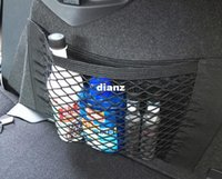 Wholesale New Arrive Strong Magic Tape Car Seat Back Storage Mesh Net Bag cm cm Luggage Holder Pocket Sticker Trunk Organizer Car Styling