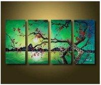 art alternatives canvas - Green plum Alternative plum full of modern art pure hand painted