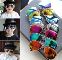 Cheap cool sunglasses goggle aviator Metal Sunglasses mirror sunglasses goggle metal eyewear bat mirror neon sunglasses free shipping in stock