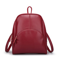 Wholesale Korean Women Fashion Casual Backpack College Style Handbag High Quality Leather Bag Colors