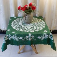 bamboo plan - Unique handmade tie dyeing table cloth tablecloth hangings cloth green harvest plans