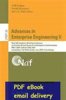 advanced practice - Advances in Enterprise Engineering II First NAF Academy Working Conference on Practice Driven Research on Enterprise