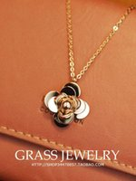Wholesale Camellia necklace k rose gold color gold necklace female short design