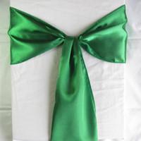 wedding chair sashes - 50 Forest Green Dark Emerald Satin Chair Sashes banquet Sash Wedding Bows Tie Decor Craft Gift Party SAT