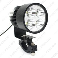 Wholesale 12V V Universal Motorcycle E bike W LED Modified Headlight Lamp Black Quality and security is simple to install