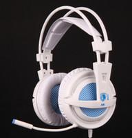 Casque d'écoute d'origine professionnel Sades A6 jeu Casque d'écoute de confort port USB 7.1 son surround pour DOTA WOW LOL CS Atlantica OL