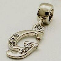 Wholesale Fits Pandoar Bracelets fashion jewelry alphabet mysterious letter G insets strap for Valentine s Parts suitable for Europe ch