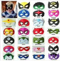 Wholesale Superhero masks Superman Batman Spiderman TMNT Frozen kids Cosplay masks cartoon kids masks Superhero Party Cosplay Masks DDA2820