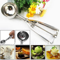 Wholesale Kitchen Ice Cream Scoop Cookies Dough Disher Spoon Potato Masher cm Stainless