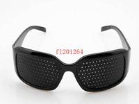 astigmatism vision - Black Unisex Vision Spectacles Astigmatism Eyesight Improve Eyes Care Pinhole Glasses Eyewear