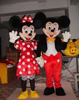 envío gratis de Alta calidad de la VENTA del Ratón Par de Minnie y mickey traje de la mascota de su Tamaño Adulto