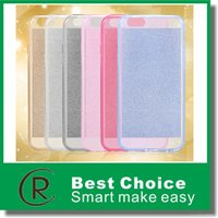 mobile phone silicone case - New Upscale luxury Mobile Phone Glitter Cell Phone Cases Transparent TPU Silicone Sleeve With Flash Powder Phone Sets For iPhone