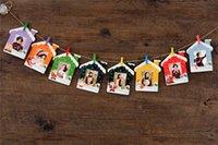 al por mayor álbumes de fotos digitales-Hidden Cameras Marco digital de fotos 9pcs 3 pulgadas de papel fotográfico Flim marco de cuadro de la pared del álbum de bricolaje colgantes y Marco de la cuerda de la abrazadera de fotos