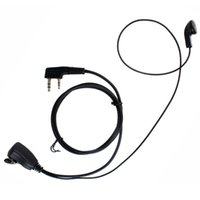 Wholesale 30pcs New Black PIN PTT MIC In ear Earpiece for KENWOOD Radio QUANSHENG PUXING WOUXUN TYT BAOFENG S C1018A