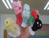Wholesale Hot Finger Puppets toys Baby Plush Dolls Hand Puppet Baby Solft Plush Velour Animal Finger Puppet Lovely Cartoon Animal Finger