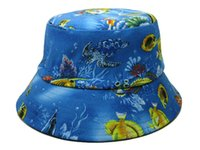 Wholesale Basketball bucket hat stitching cotton fisherman cap camping hiking outdoor sun hat dicer headgear women men mix order photo album