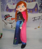 Wholesale high quality with cooling fan Elsa mascot costume for adult to wear for sale for party