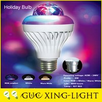Wholesale 2015 Sale B22 Globe w New Product Led Bulb Led5w Colorful Rotating White Warm Lighting Crystal Magic Ball Ktv Stage E27 Wide Voltage