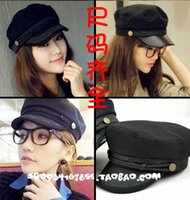 Wholesale Choke a small pepper Korea Navy cap fashionista Korean flat hat black winter male ladies casual fashion hat