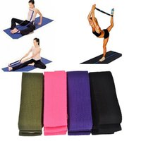 Cheap Cotton Yoga Strap Stretch Belt Exercises Stretching Belt Figure Waist Leg Fitness Gym Accessories
