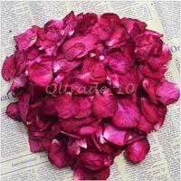 Wholesale 500set CCA3272 High Quality g Bag Bath Rose Dried Flower Skin Care Bath Real Rose Petal Wedding Decoration Rosa Bride Romantic Rose Petals
