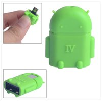 Wholesale Cute Mini Android Style Micro USB OTG USB Drive Reader for Samsung Galaxy S6 S5 S4 Note