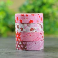 Wholesale lovely pink decoration paper self adhesive tape cartoon self adhesive tape package sticky tape
