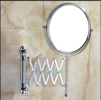 Wholesale New Chrome Finish Flexible Make Up Mirror Wall Mounted Magnify Mirror Dual Sides