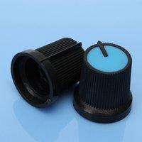 Wholesale 10pcs Blue Face Plastic for Rotary Taper Potentiometer Hole mm Black Knob Volume Control