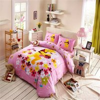 baby bedding pooh - 2015 Hot Winnie Pooh Duvet Cover Pink Bedding Sets Cotton Baby Bedding For Girls