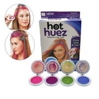 Wholesale Hot Huez colors Dye hair powdery cake Temporary Hair Chalk Powder Dye Soft Pastels Salon Party Christmas DIY