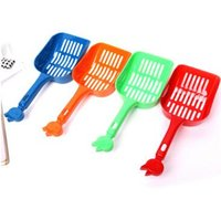 Wholesale 200pcs CCA2473 New Arrival High Quality Poop Sand Scoop Sieve Pet Cat Plastic Litter Tray Scooper Shovel Plastic Litter Scoop Clean Tools
