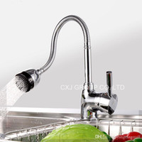 Wholesale Solid Brass Kitchen Mixer Cold and Hot Kitchen Tap Single Hole Water Tap Kitchen Faucet torneira cozinha A3