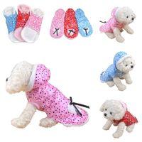 Wholesale Cute Pet Dog Hooded Apparel Soft Warm Winter Wear Heart Pattern Puppy Clothes Size S M L XL EPJ