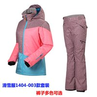 Wholesale new Ms outdoor ski snowboard double board skiwear female models underwear suit suits pt10