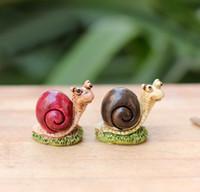 animal desktops - sale snail fairy garden gnome animals moss terrarium home desktop decor crafts bonsai doll house miniatures DIY c020